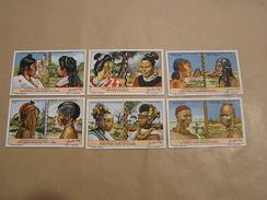 ZONDERLINGE KAPSELS Coiffures Cheveux Chevelures Liebig Série Reeks 6 Chromos Trading Cards Chromo - Liebig