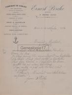 45 299 BRIARE LOIRET 1934 Fabrique De Cables ERNEST PERCHE Cordier Epervier Carrelets Gymnastique A MAILLIOT De Pouilly - France