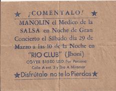 Cartel Antiguo, MANOLIN EL MEDICO - Documentos Históricos