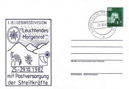 """(BWFP1) BRD-Bundeswehr, Feldpost, """"Leuchtendes Morgenrot"""" 25.10.1982 Poststelle 12, Brief 1982 - BRD"""