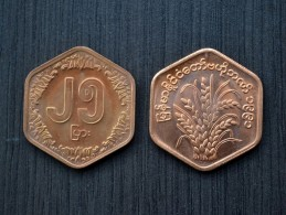 Myanmar ( BURMA)  25 Pyas (F.A.O.) 1991  Km58  UNC Commemorative Coin   ASIA - Myanmar