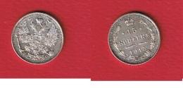 Russie  -- 15 Kopeks  1915 BC  --  KM # 21a3  -- état  SUP - Russie
