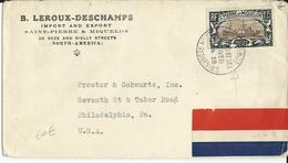 SPM - 1938 - YVERT N°174 SEUL Sur ENVELOPPE OBLITERATION De PAQUEBOT De NORTH SYDNEY Pour PHILADELPHIA (USA) - MARITIME - St.Pierre & Miquelon