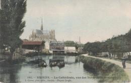 AMIENS -80- LA CATHEDRALE VUE DES BORDS DE LA SOMME - Amiens