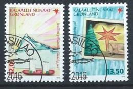 Groënland 2016, Série Oblitérée Noël - Oblitérés