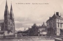 Châlons Sur Marne Eglise Notre Dame Et Le Théatre - Châlons-sur-Marne
