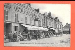 CPA  91 - Angerville - Hotel Des Voyageurs  Place Tessier - Angerville