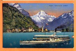 """J045, Flüelen, Salondampfer """" Schiller"""", Schiff, Bateau, Boat,5807, Circulée 1936 - LU Luzern"""