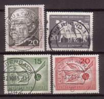 BRD , 1965 , Mi.Nr. 463 / 479 / 483 / 484 O - Gebraucht