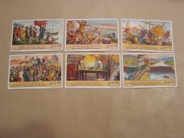 GESCHIEDENIS DES USA Histoire Des Etats Unis   Liebig Série Reeks 6 Chromos Trading Cards Chromo - Liebig