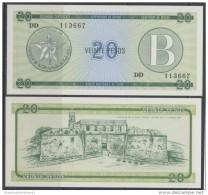 1985-BK-11 CUBA EXCHANGE CURRENCY 1985 20$ . B. UNC - Cuba