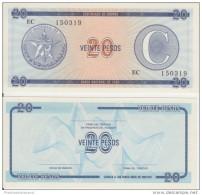 1985-BK-108 CUBA EXCHANGE CURRENCY 1985 20$ . C. UNC - Cuba