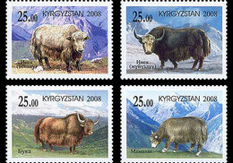 Kirgizië / Kyrgizistan - Postfris / MNH - Yaks In De Bergen 2008 - Kyrgyzstan