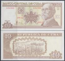 2005-BK-102 CUBA 2005. 10$ MAXIMO GOMEZ. UNC. - Cuba