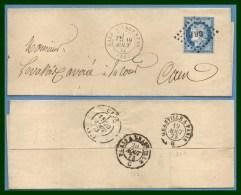 GARE D' ARGENTAN  T17 Los. GR P /N° 60 1873 > Caen T17 + Amb (LSC) - Poste Ferroviaire