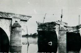 Cpa Photo SAUMUR 49 Pont Cessart Détruit Par Le Génie En Juin 1940 - Saumur