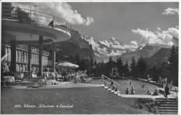 WENGEN → Gut Besetztes Schwimm- Und Sonnenbad, Fotokarte Ca.1960 - BE Berne