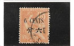 TIMBRE DE 1902 - 06 Avec Valeur En Monnaie Chinoise N° 77 Oblitéré - Gebraucht