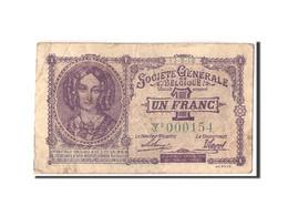 Belgique, 1 Franc, 1918, KM:86b, 1918-09-11, TB - [ 3] Ocupaciones Alemanas En Bélgica