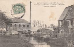 """Bonneville La Louvet - La Fabrique De Semelles De Galoches """"Rigaud"""" - Scan Recto-verso - Other Municipalities"""