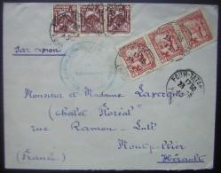 Tunisie 1945 Jolie Lettre De  Foum Tataouine Bataillon D'infanterie Pour Montpellier - Covers & Documents