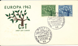 Germany FDC 17-9-1962 EUROPA CEPT Complete With Cachet - Europa-CEPT