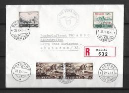 PRO AERO 1941 SONDERPOSTFLUG → Buochs NW 28.05.1941 - Payerne - Choindez 29.05.1941 - Poste Aérienne