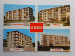 CP 04 GREOUX Les BAINS Multivue  Ensemble Cité HLM  Les Résidences  Les Amandiers Provence Mistral Les Oliviers - Gréoux-les-Bains