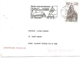FLAMME DE LE FAOUET MORBIHAN 1981 - Postmark Collection (Covers)