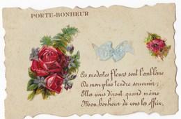 PORTE BONHEUR  -  Ces Modestes Fleurs Sont L'enblèmes ..... Belle Carte Avec Ajoutis. - Autres