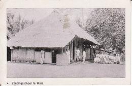 278832Zendingsschool Te Wari. Nr.4. Uit Den Arbeid Der Utrechtsche Zendingvereen, Op Halmahera (zie Hoeken) - Indonesia