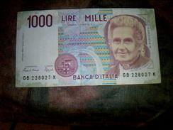 Billet De Banque D Italie Aynt Circulé De 1000 Lire BE - Autres