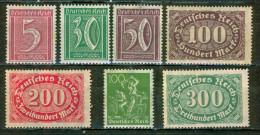 Chiffres - ALLEMAGNE - REPUBLIQUE DE WEIMAR - Mineurs - 1921 - 1923 - Deutschland