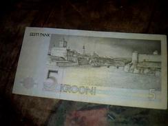Billet De Banque D Estonie De 5 Krooni Ayant Circulé TBE+ - Turquie