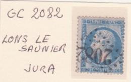 JURA : GC 2082 Sur Yt 22 Lons Le Saunier - 1849-1876: Periodo Classico