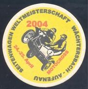 Germany Beer Stand; Motorrad Mororbike Motorcycle: Seitenwagen Weltmeisterschaft Wächtersbach Aufenau; Julius Biere - Werbung