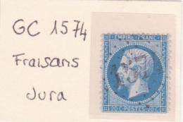 JURA : GC 1574 Sur Yt 22 Fraisans - 1849-1876: Periodo Classico