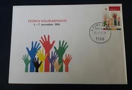 SLOVENIA 2016 FDC Solidarity Week Red Cross Hands - Slovenia