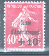 Y & T N°266, *, MH - Caisse D'Amortissement