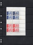 L V F) Quadruple Bande Neuve Et Complète Séparée Par Deux Timbres En Impression à Sec - YT 565 566 -3 Petites Taches Dos - Francia