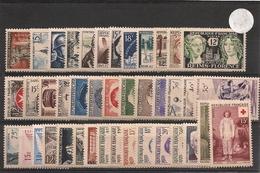 FRANCE 1956 Année Complète N° Y/T: 1050/1090** Côte: 167,00 € - 1950-1959