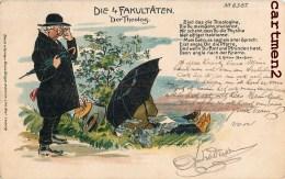 DIE 4 FAKULTATEN DER THEOLOG. KÖHLER-HAUFSEN ILLUSTRATOR DEUTSCHLAND ALLEMAGNE DRUCK U. VERLAG BRUNO BÜRGER § OTTIL - Illustratori & Fotografie