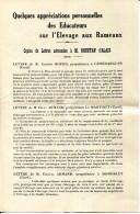 30.GARD.ALAIS.VERS A SOIE.QUELQUES APPRECIATIONS PERSONNELLES DES EDUCATEURS SUR L'ELEVAGE AUX RAMEAUX.M.ROUSTAN. - Frankreich
