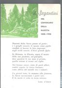 A SEGANTINI NEL CENTENARIODELLA NASCITA POESIA DI LINO D'ARCO.VIAGGIATA..1958.FG.G261.M - Historical Famous People