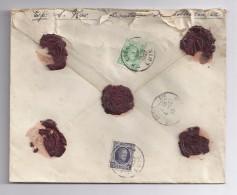 BELGIE - BELGIQUE Brief Verzekerd (valeur 1400) -  Zegels 209 + 204 - Luik Naar Parijs - 1922-1927 Houyoux