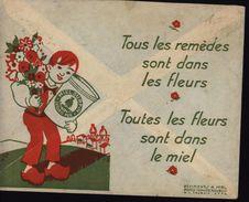 Enveloppe Illustrée Ets J Lafont Apiculteur Pignergue De Villedieu St Flour Cantal Abeille Erreur Sur CAD YT 433 - Postmark Collection (Covers)