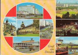4687FM- DRESDEN- HOTEL, RAILWAY STATION, STADIUM, BRIDGE, SHIP, SQUARE, CHURCH, ZWINGER PALACE, CAR - Dresden