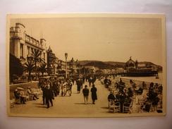 Carte Postale Nice (06) Promenade Des Anglais (Petit Format Annoté 1939) - Nice