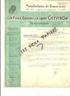 90 - Territoire-de-belfort - VESCEMONT - Facture CHEVIRON - Manufacture De Bonneterie – 1943 - REF 49A - France