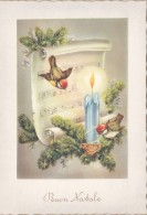 BUON NATALE.NOËL.NATALE.MERRY CHRISTMAS.CARTOLINA.POST CARD.CANDELA.SPARTITO.LIBRO.FIORI.FIAMMA...5110 - Altri